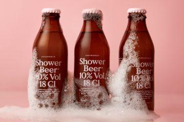 Szwedzki browar PangPang, zachęca do picia piwa pod prysznicem<