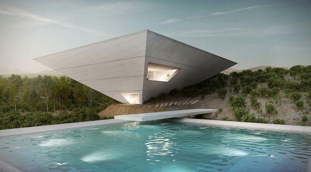 Dom w kształcie odwróconej piramidy to kwintesencja zabawy formą