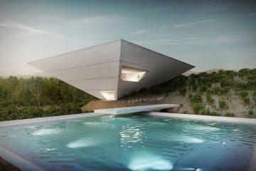 Dom w kształcie odwr&oacute;conej piramidy to kwintesencja zabawy formą<