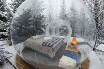 Hotel pod gwiazdami w kształcie balonu oferuje niezapomniane przeżycia w środku islandzkiego lasu<