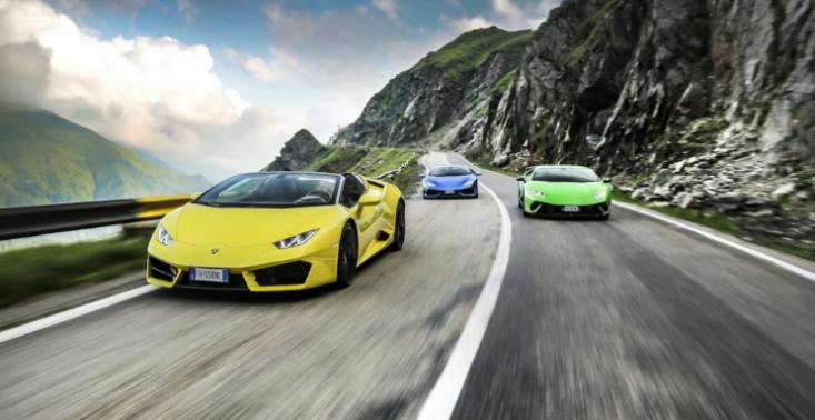 Zobaczcie, jak sześć Lamborghini Hurac&aacute;n testuje najpiękniejsze drogi w Transylwanii<