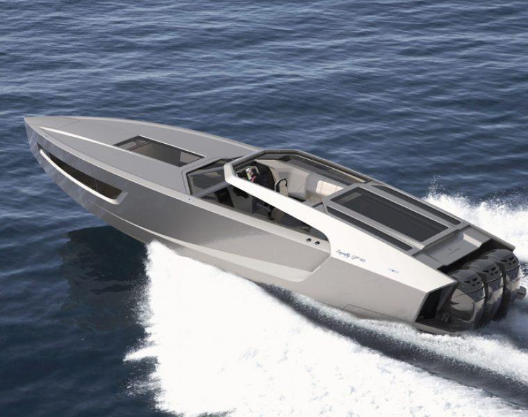 Superfly GT 42 to futurystyczna superłódź, w której zmieści się cała rodzina