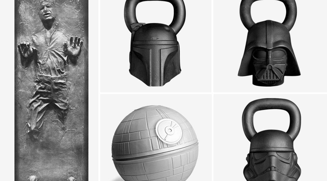 Akcesoria do ćwiczeń z wizerunkiem postaci z Gwiezdnych Wojen, przekonają was do przejścia na ciemną stronę mocy