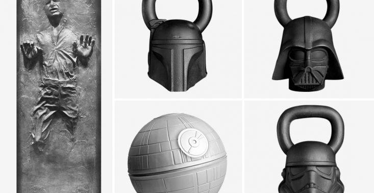 Akcesoria do ćwiczeń z wizerunkiem postaci z Gwiezdnych Wojen, przekonają was do przejścia na ciemną stronę mocy<