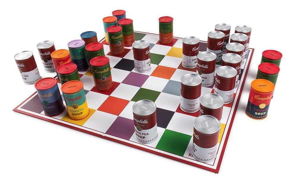 Zagraj w szachy puszkami zupy Campbell Andy'ego Warhola