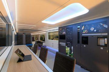 IDEENZUG to niemiecki pociąg przyszłości z siłownią i salą gier na pokładzie