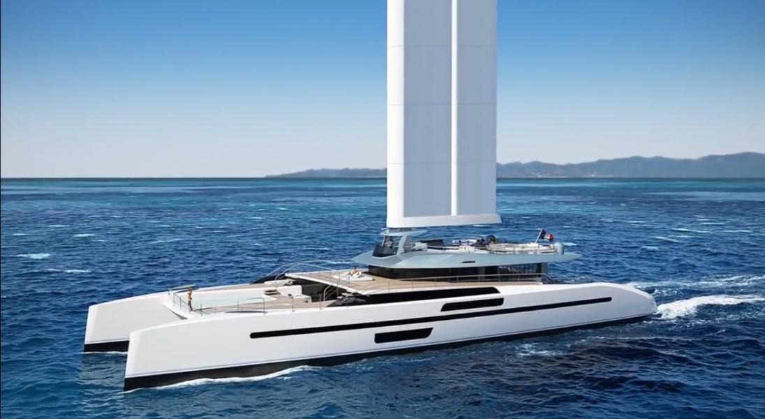EVIDANCE to pierwszy jacht napędzany przez żagiel