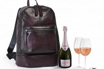 Plecak na szampana od Berluti i Krug doskonale sprawdzi się podczas sylwestrowej wycieczki<