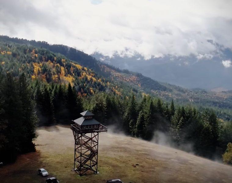 Na Airbnb możecie wynająć wieżę obserwacyjną z widokiem na góry i las