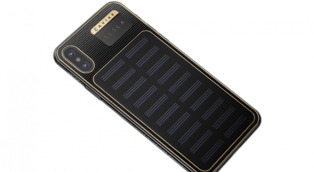 iPhone X Tesla to luksusowa wersja smartfona z wbudowanymi panelami słonecznymi