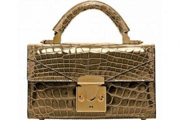 Marka STALVEY stworzyła pierwszą na świecie torebkę ze skóry krokodyla, pokrytą 24-karatowym złotem