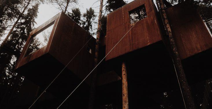 Zamieszkaj w domu na drzewie w Szwedzkiej Laponii<