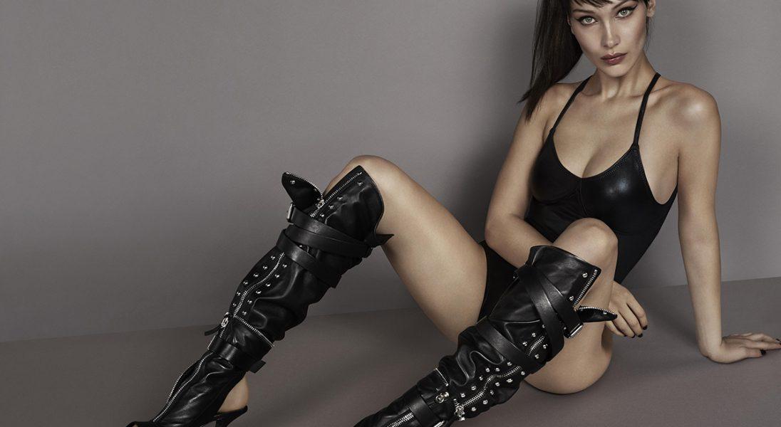 Buntownicza Bella Hadid została twarzą nowej kampanii Giuseppe Zanotti