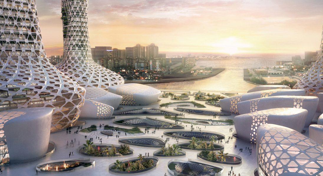 Niesamowity projekt wieżowców łączy nowoczesną architekturę z naturalnym środowiskiem Dubaju