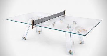 Oto szklany stół do ping ponga, który lepiej będzie wyglądał w salonie