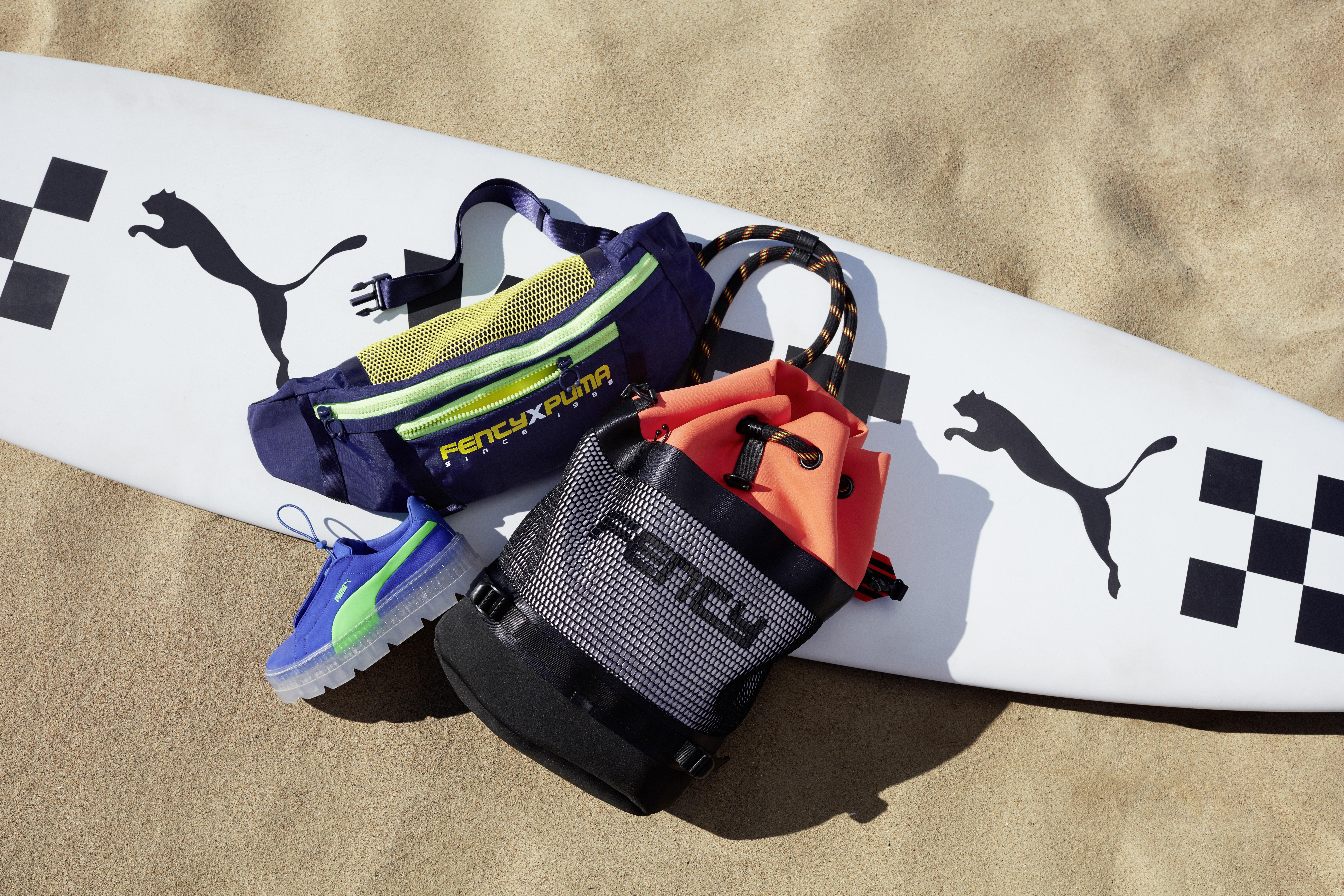 Surferski szyk spotyka motorsport w kolekcja Rihanny dla