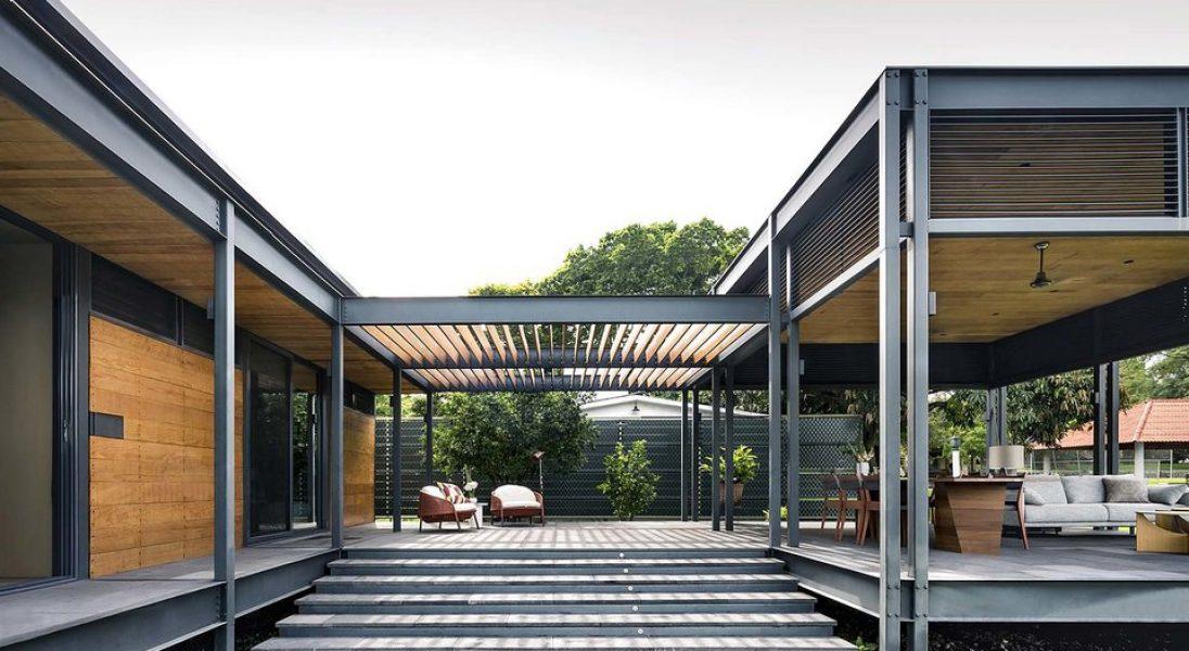 Piękny dom zbudowany z gotowych modułów. Casa Molina inspiruje