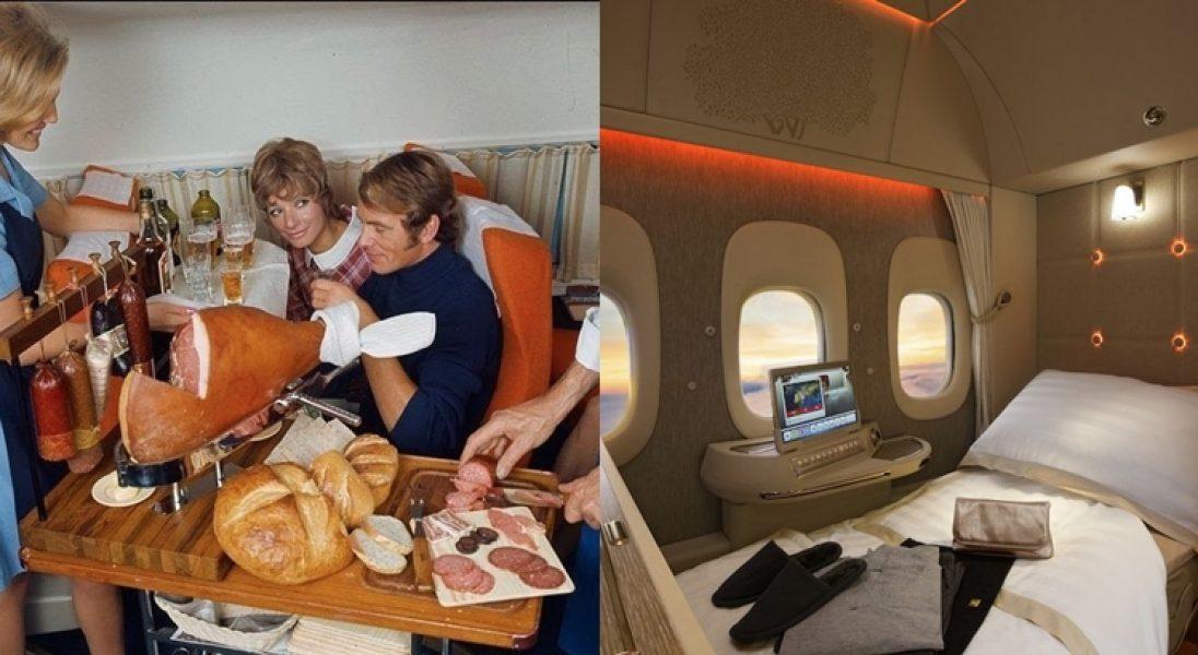 Jak wyglądał lot pierwszą klasą kiedyś i dziś?