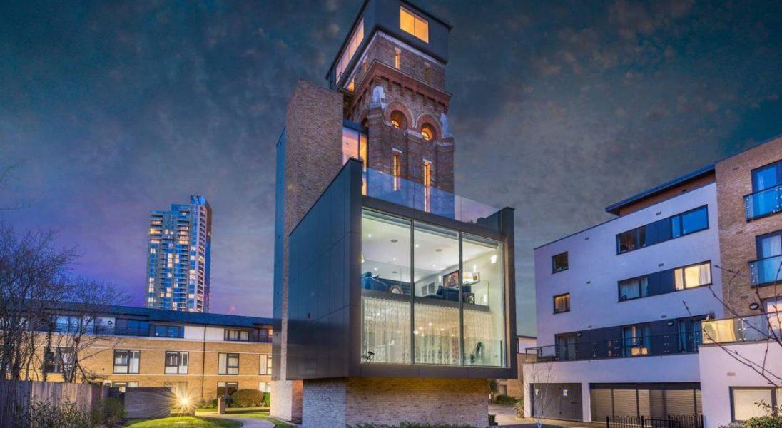 Dawna wieża ciśnień z epoki wiktoriańskiej została zamieniona w luksusowy apartament