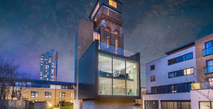 Dawna wieża ciśnień z epoki wiktoriańskiej została zamieniona w luksusowy apartament<