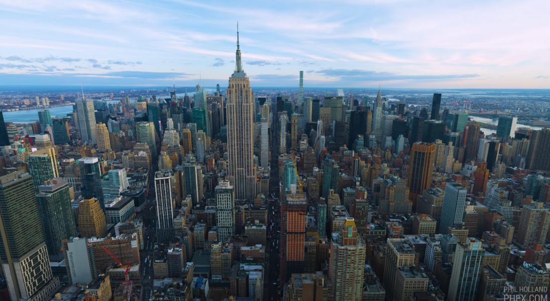 Zobaczcie fenomenalny film w rozdzielczości 12K nakręcony nad Nowym Jorkiem