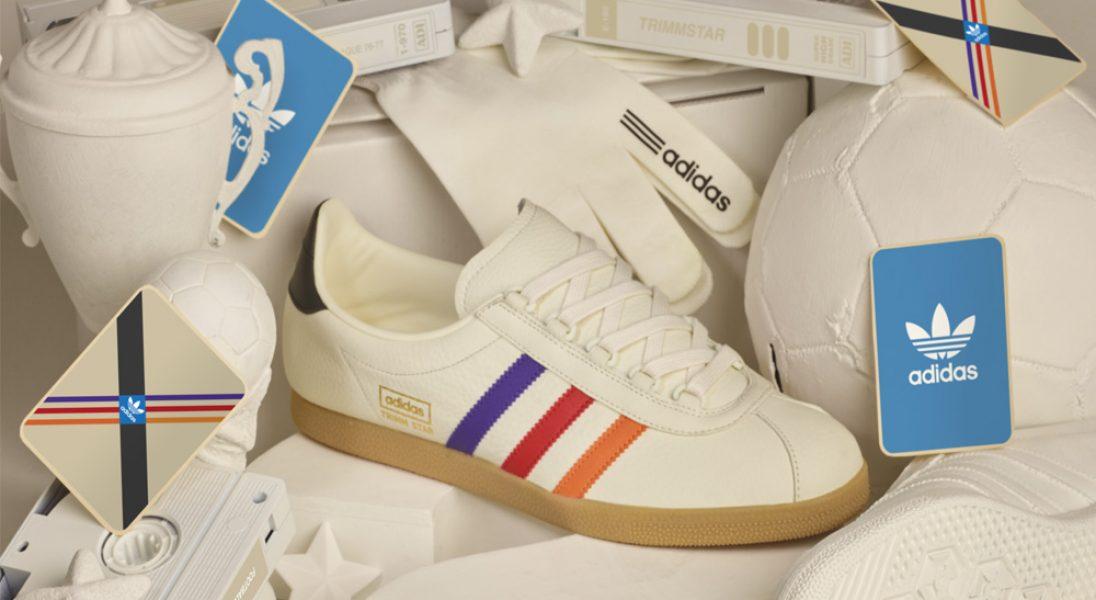 buty adidas z kolorowymi paskami