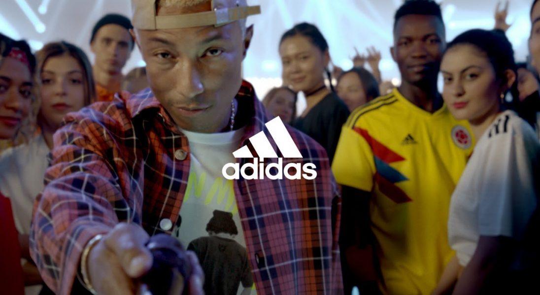 Pharrell, Messi, Zidane, Salah oraz inne gwiazdy sportu i popkultury w nowym spocie adidasa z okazji MŚ 2018