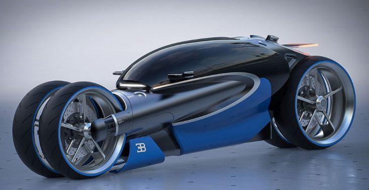 Miejsce tego koncepcyjnego motocykla Bugatti jest w przyszłości<