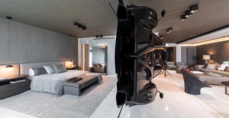 W tym apartamencie w Miami gł&oacute;wną atrakcją jest unosząca się w powietrzu Pagani Zonda R<