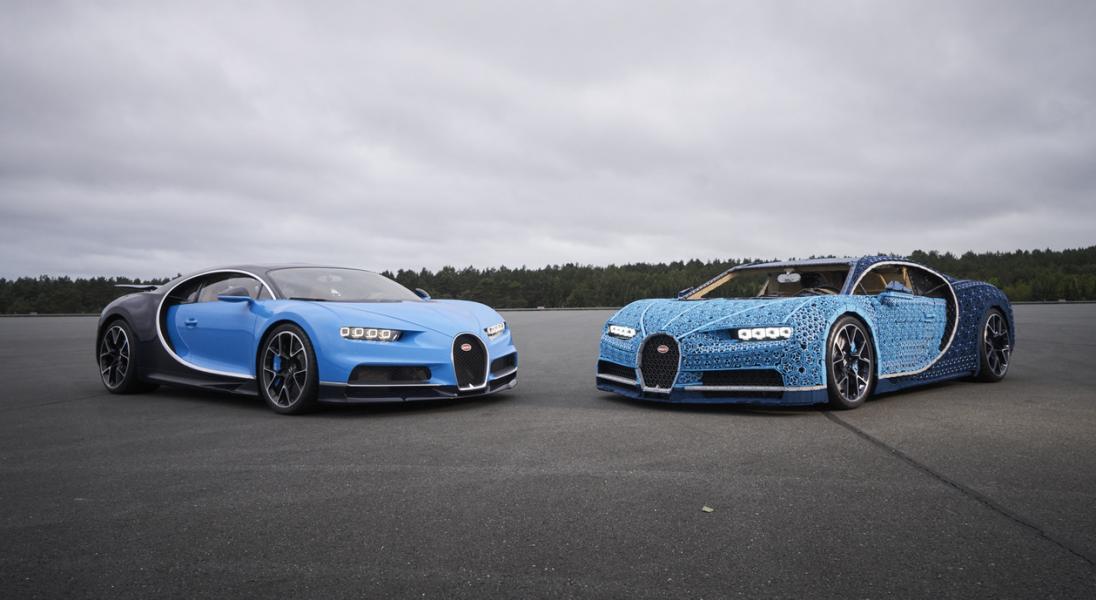 LEGO zbudowało nadające się do jazdy Bugatti Chiron w skali 1:1