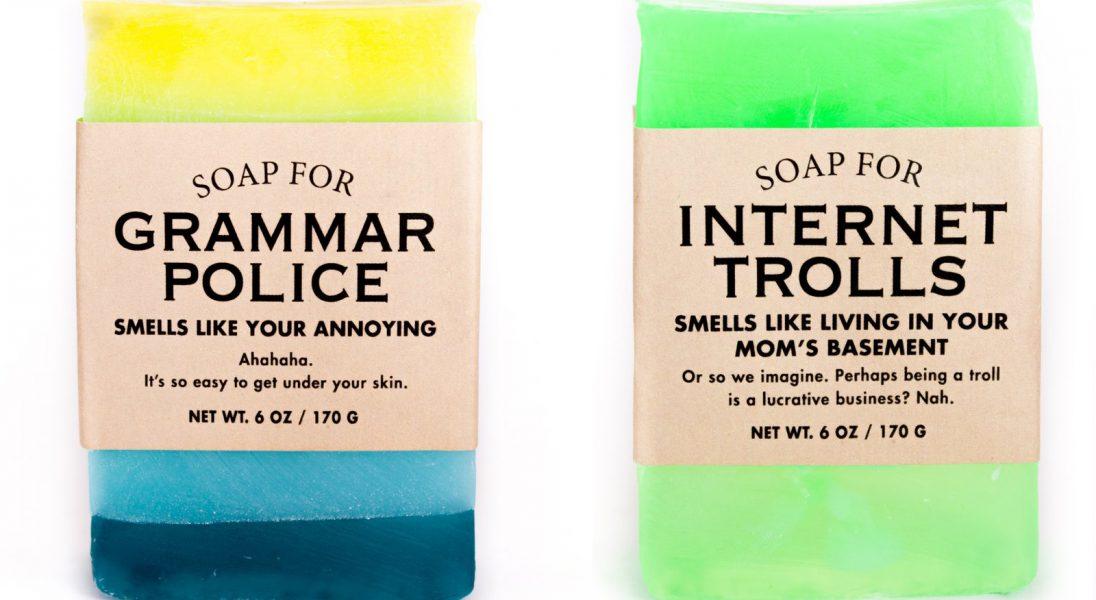 Powstały mydła dla introwertyków, internetowych trolli i gramatycznych nazistów