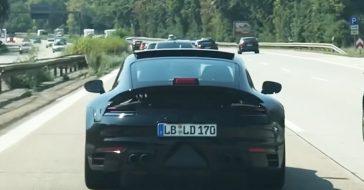 Nowe Porsche 911 przyłapane na drogowych testach