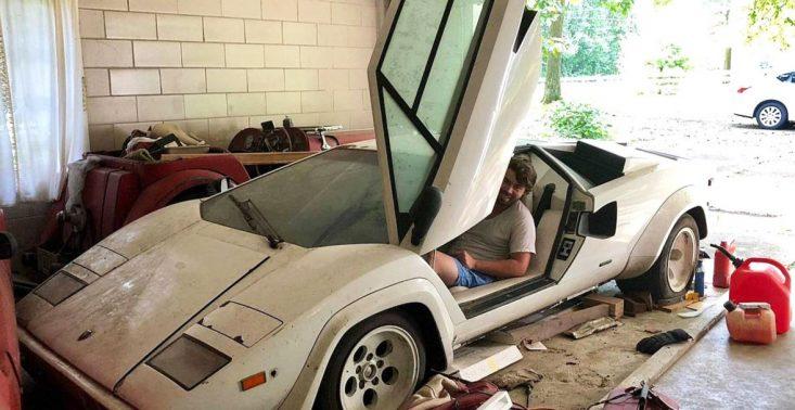 Wchodzisz do garażu swojej babci, a tam... Lamborghini Countach z 1981 roku<