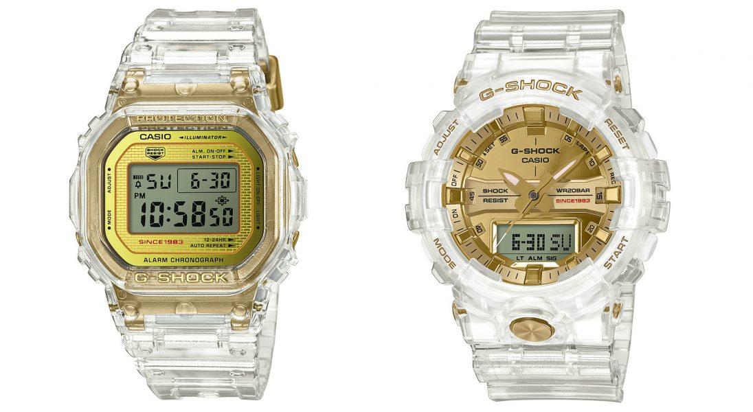 Złoto i lód, czyli zegarki Casio z transparentnym paskiem z okazji 35-lecia serii G-Shock