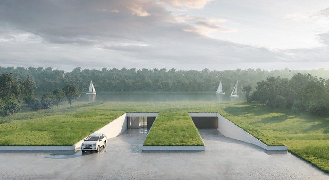 Zobaczcie projekt domu ukrytego w łące stworzony przez warszawskie studio 81.waw.pl