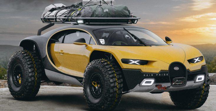 Oto wizja Bugatti Chiron w wersji terenowej<