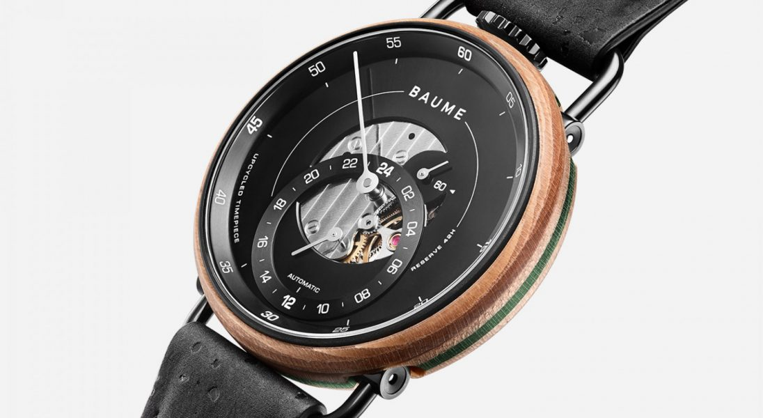Baume stworzyło zegarek ze starych desek skateboardowych