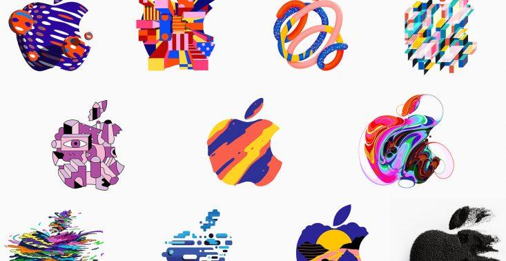 Apple zaprasza na premię swojego nowego sprzętu. Z tej okazji stworzyło kilkaset wersji swojego logo<