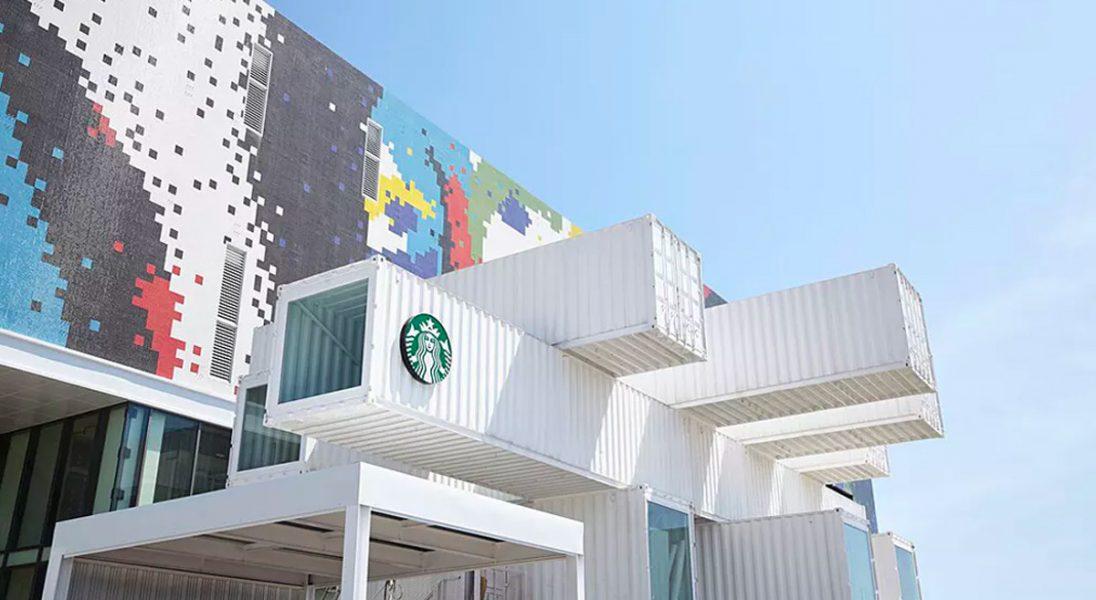 Oto ekologiczna kawiarnia Starbucks zbudowana z kontenerów