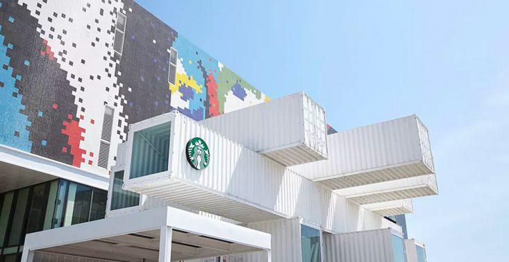 Oto ekologiczna kawiarnia Starbucks zbudowana z kontener&oacute;w<