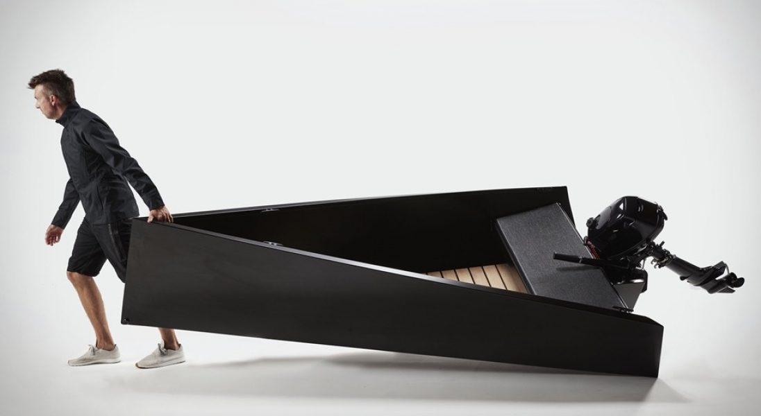 Designerska łódka dla miłośników minimalizmu