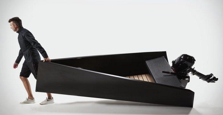 Designerska łódka dla miłośników minimalizmu<