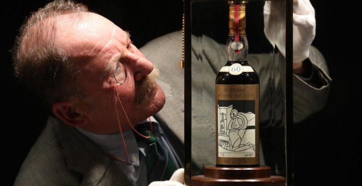 Święty Graal wszystkich whisky, czyli butelka 60-letniego Macallana Valerio Adami pobiła rekord na aukcji<