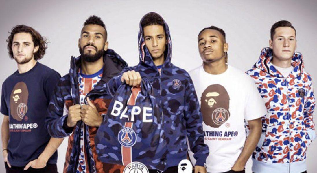 Streetwearowa marka BAPE stworzyła kolekcję dla francuskiego klubu piłkarskiego PSG