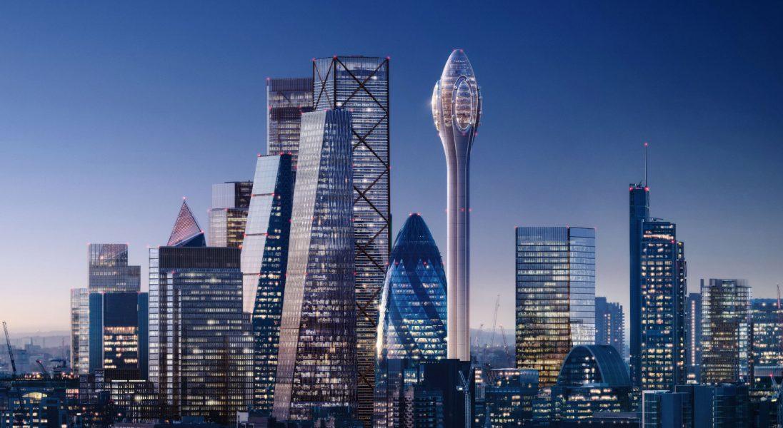 Studio projektowe Foster + Partners chce zbudować 305-metrową wieżę widokową dla Londynu