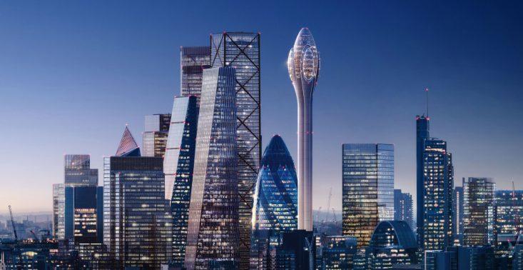 Studio projektowe Foster + Partners chce zbudować 305-metrową wieżę widokową dla Londynu<
