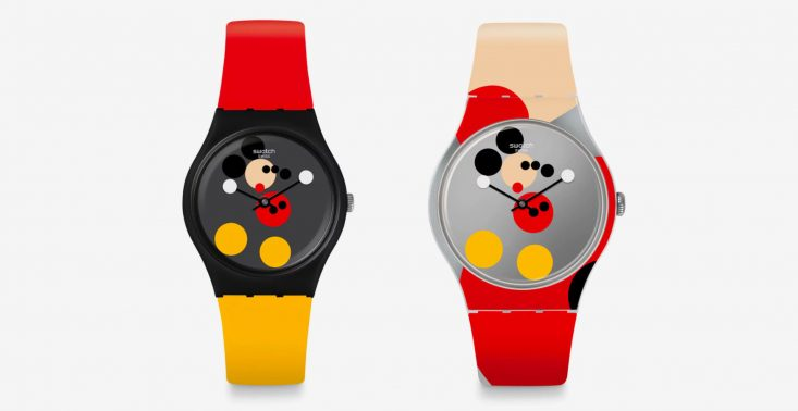 Swatch świętuje urodziny Myszki Miki specjalną kolekcją zegark&oacute;w projektu Damiena Hirsta<