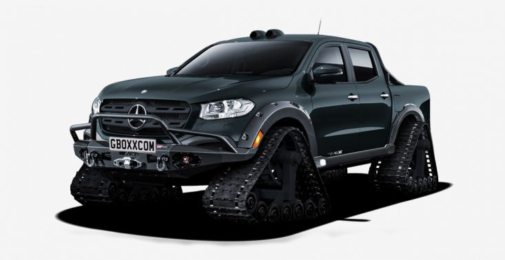 Auto nie do pokonania, czyli pickup Mercedes-Benz X-Class zamieniony w czołg<