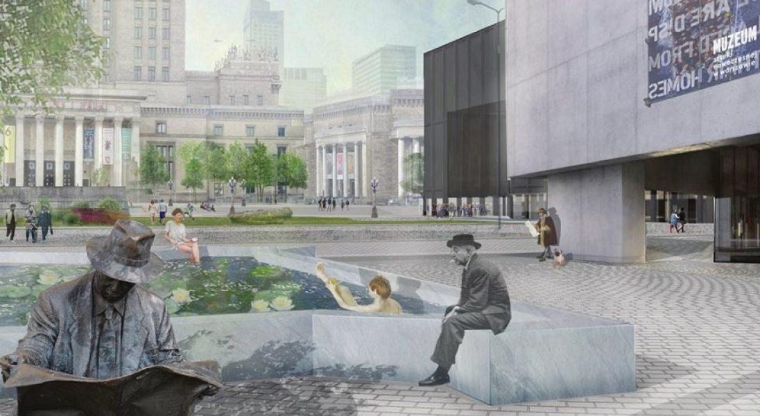 Plac Defilad jak przedwojenny plac Centralny. Rozstrzygnięto konkurs na modernizację terenu wokół Pałacu Kultury