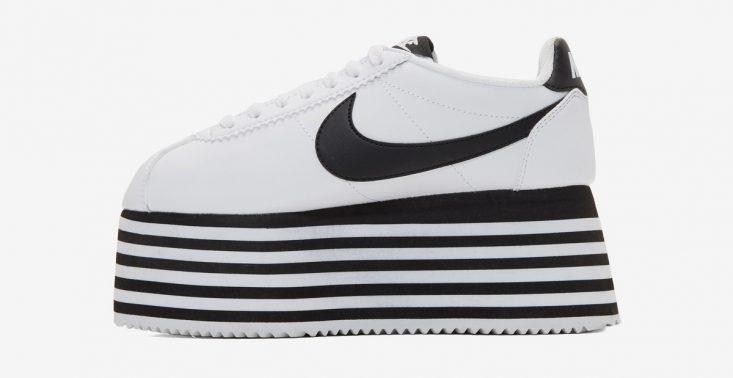 Marki COMME des GAR&Ccedil;ONS i Nike wypuściły na rynek sneakersy na wielkiej platformie<
